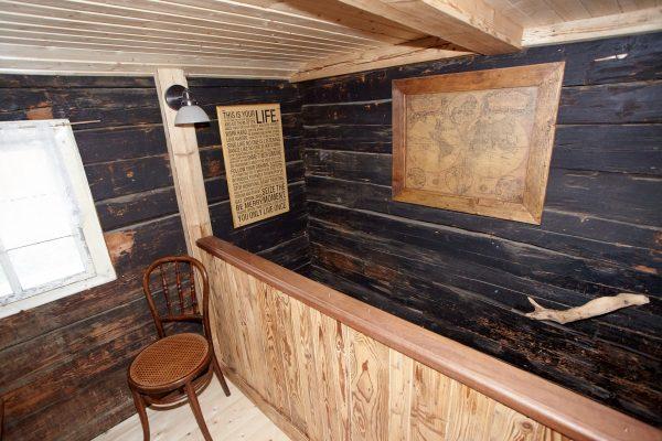 Das alte Holz ist erhalten und restauriert.
